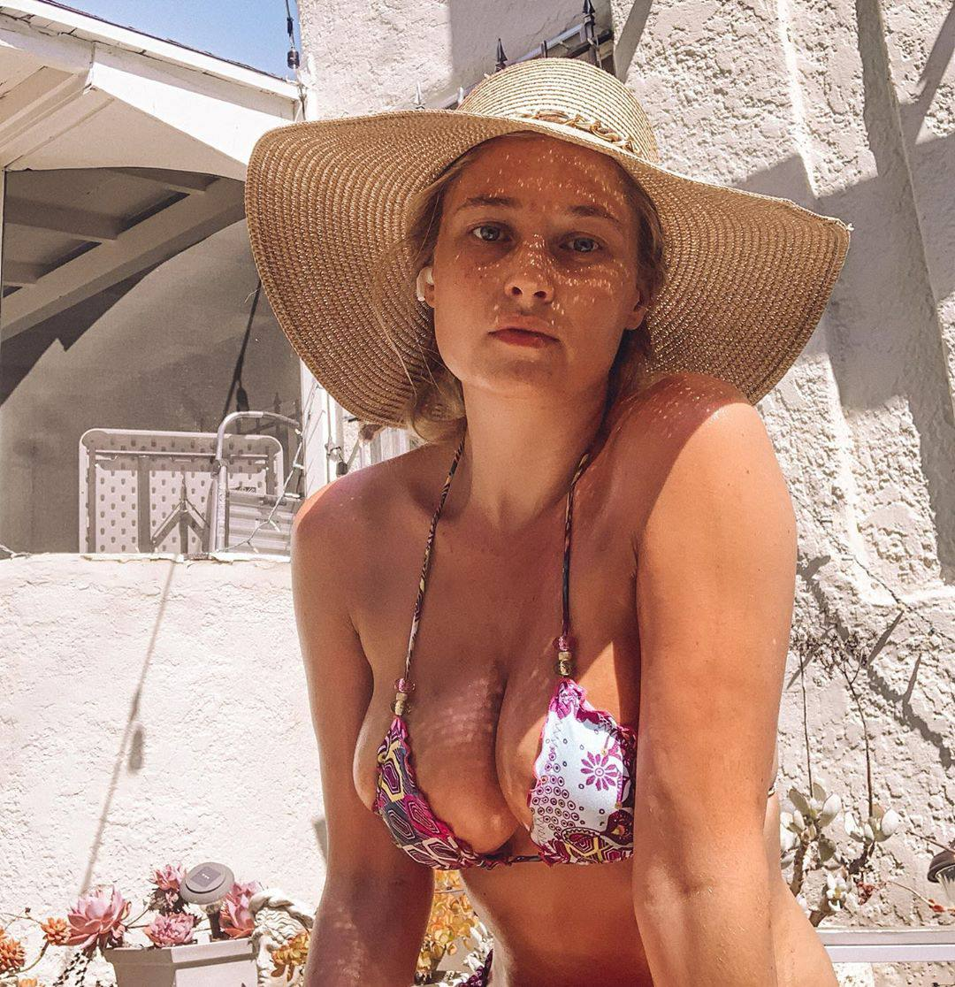 Genevieve Morton Sexy Big Boobs In Small Bikini Top