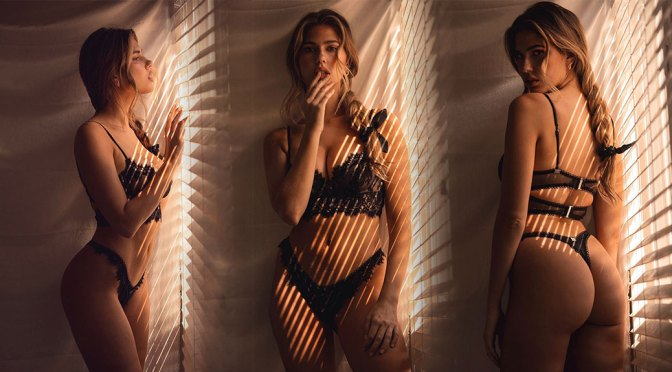 Kara Del Toro – Sensational Body in Tiny Black Lingerie Photoshoot