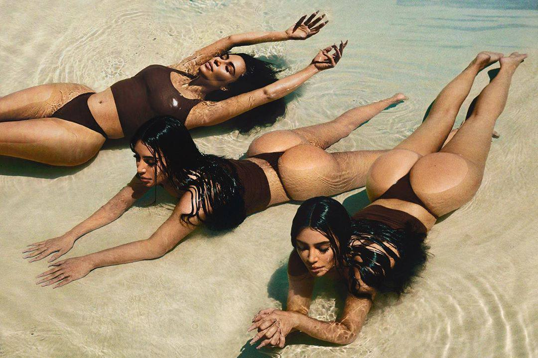 Kim Kardashian Sexy Huge Ass In Thong Bikini
