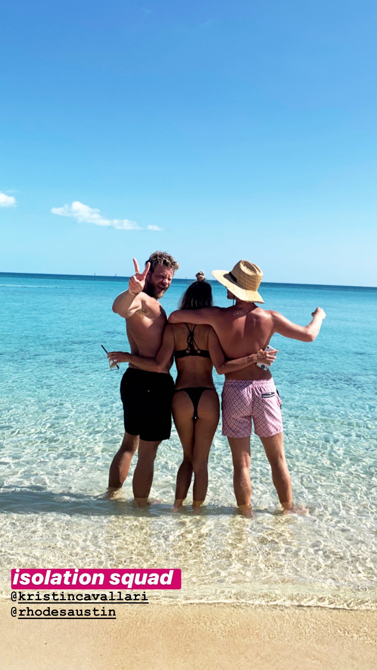 Kristin Cavallari Hot Ass In Thong Bikini