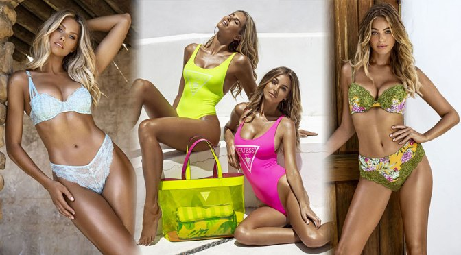 Natalie Roser and Elizabeth Turner – Beautiful BOobs in Guess Summer 2020 Swimwear Collection