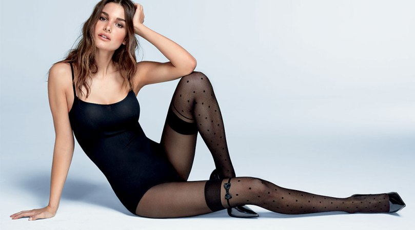 Ophelie Guillermand Sexy In Black Stockings