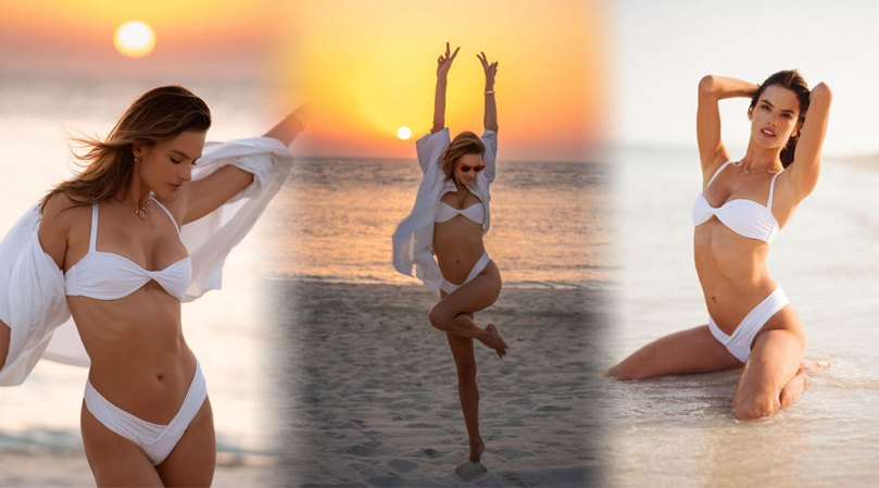 Alessandra Ambrosio Beautiful Beach Photoshoot