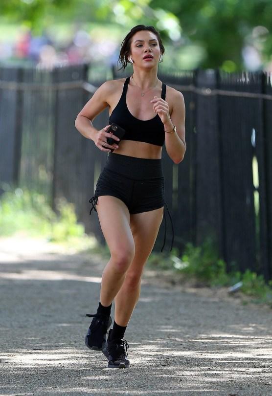 Alexandra Cane Sexy Jogging