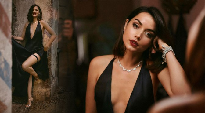 """Ana de Armas – Gorgeous in Black Dress for """"No Time To Die"""" Movie Promo"""