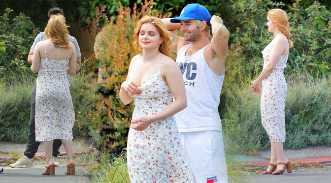 Ariel Winter – Sexy Boobs in Beautiful Dress Out in Los Angeles