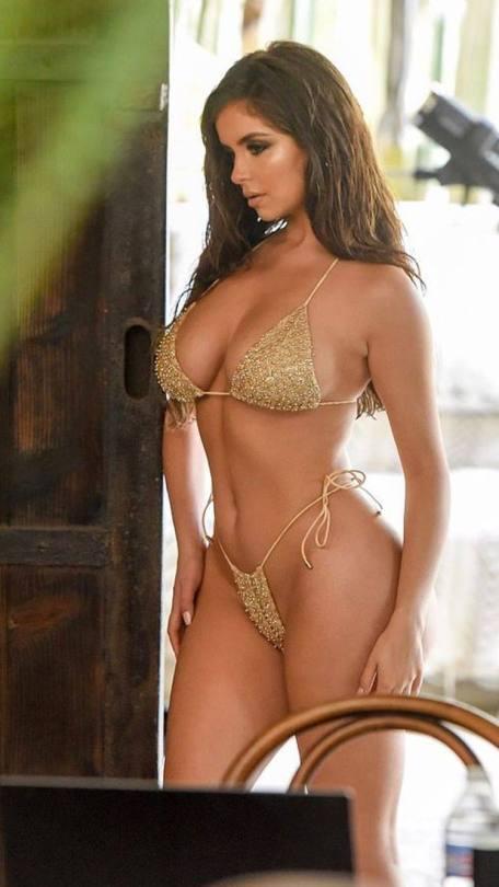 Demi Rose Mawby Tiny Bikini