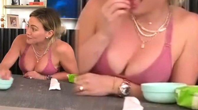 Hilary Duff – Beautiful Big Boobs in Sexy Cleavage Video