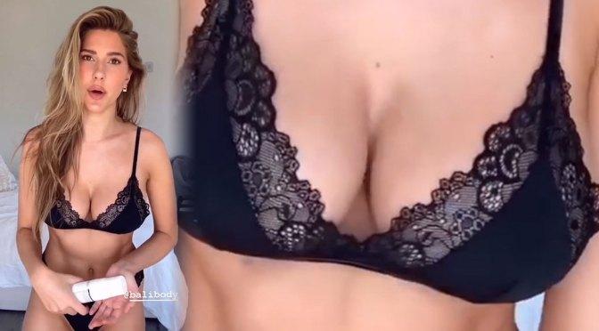 Kara Del Toro – Perfect Boobs in Black Lingerie and Bikinis (Video)