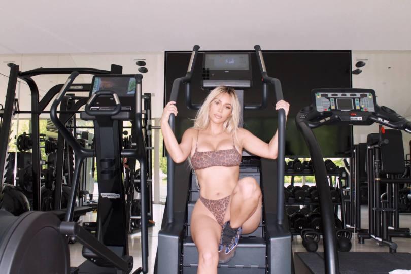 Kim Kardashian Hot Body In Gym