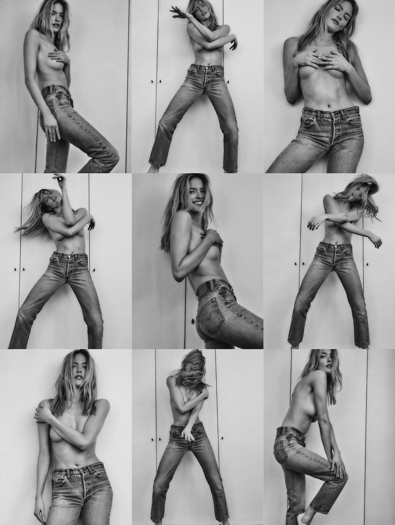 Marta Hunt Topless In Jeans