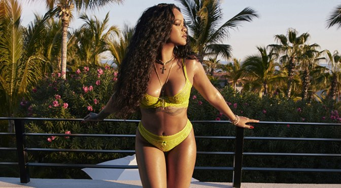 "Rihanna – Sexy Body in Yellow Lingerie for Savage X Fenty ""Love Lace"" Collection Photoshoot (June 2020)"