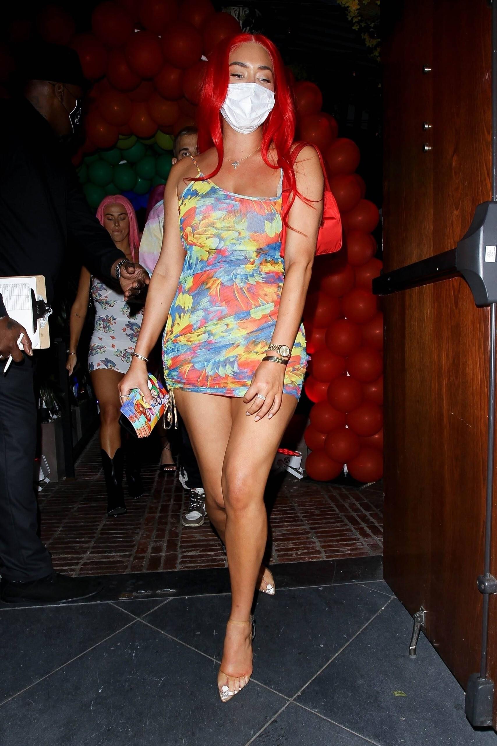 Anastasia Karanikolaou Sexy In Short Dress