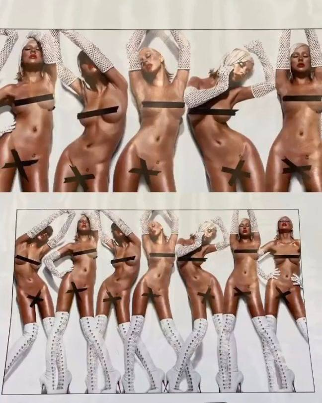 Christina Aguilera Naked Outtakes
