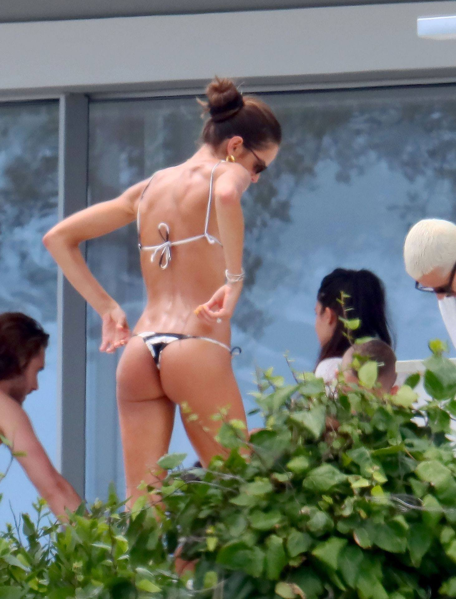 Izabel Goulart Breast Slip