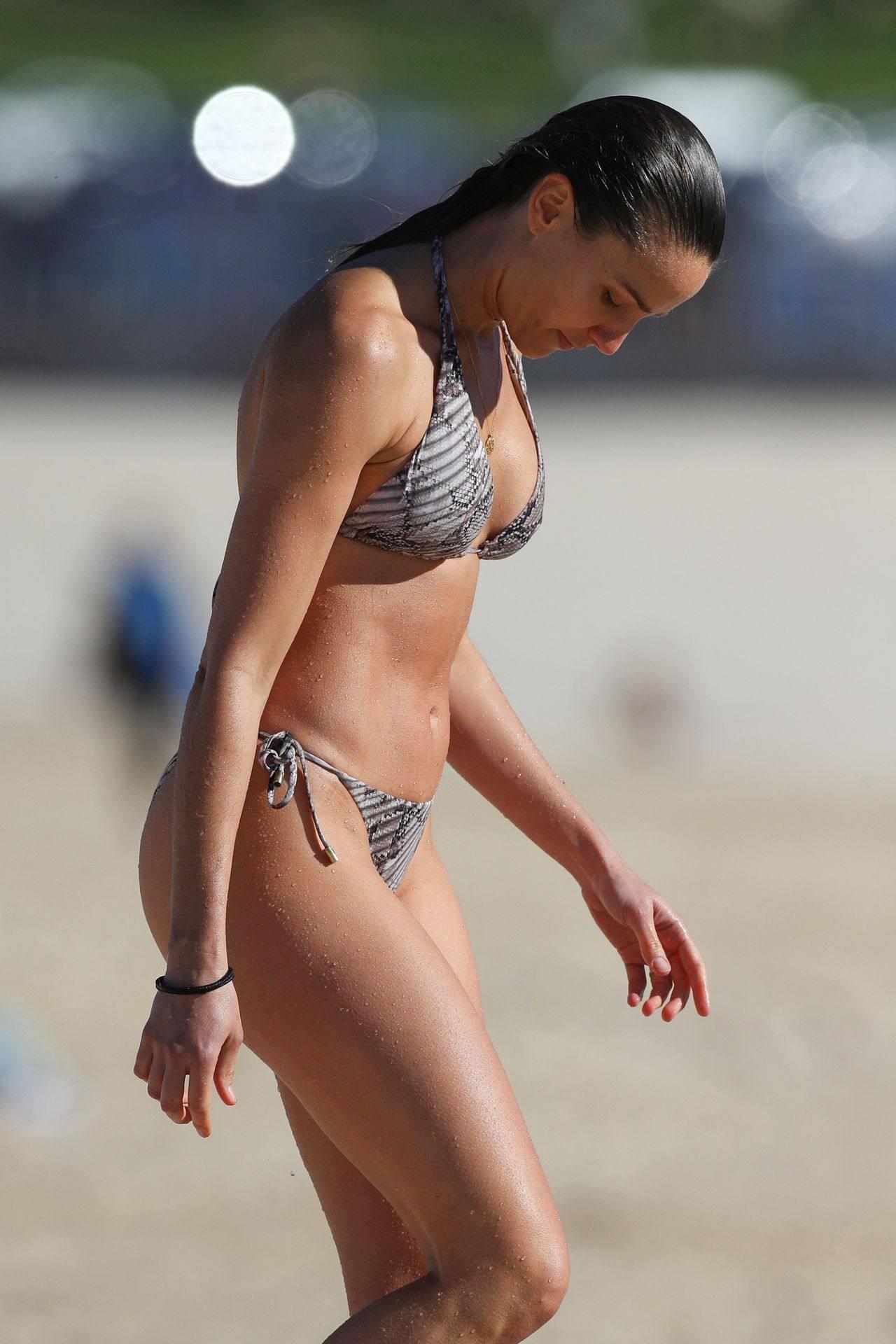 Rachel Finch Sexy On Beach