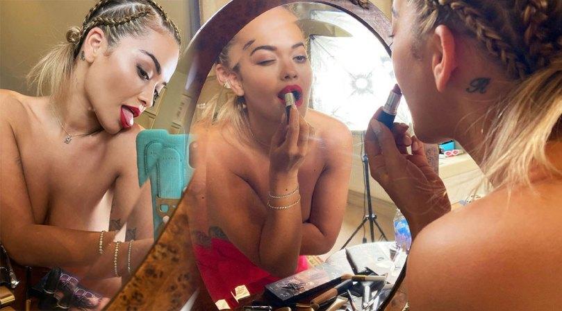 Rita Ora Topless Selfies