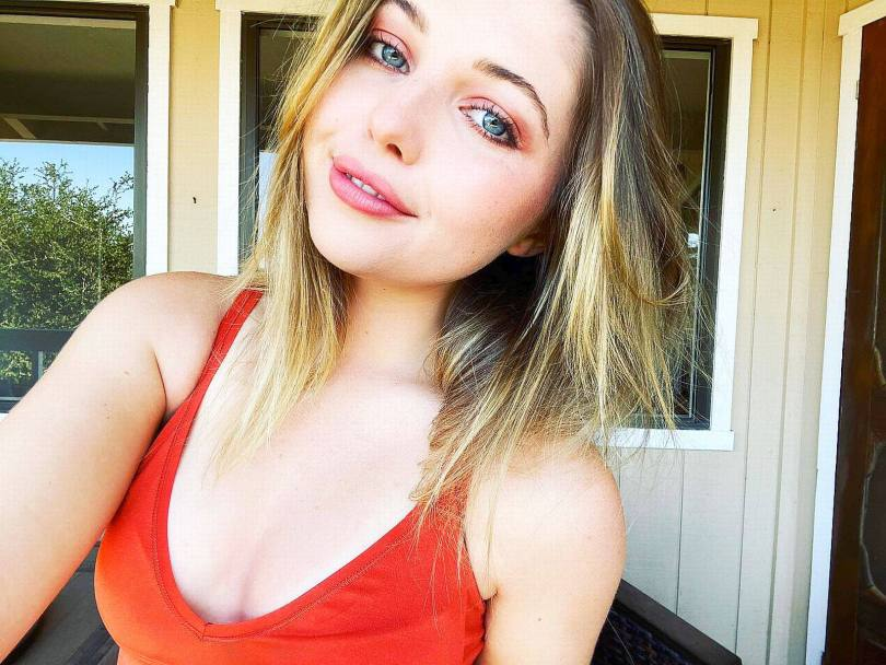 Sammi Hanratty Sexy In Red Top