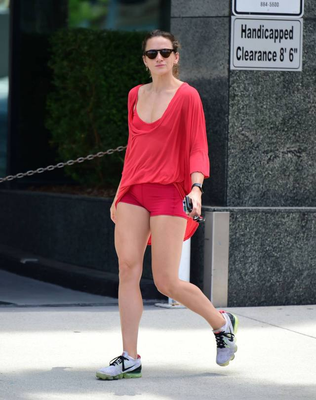 Shantel Vansanten Hot In Red Shorts