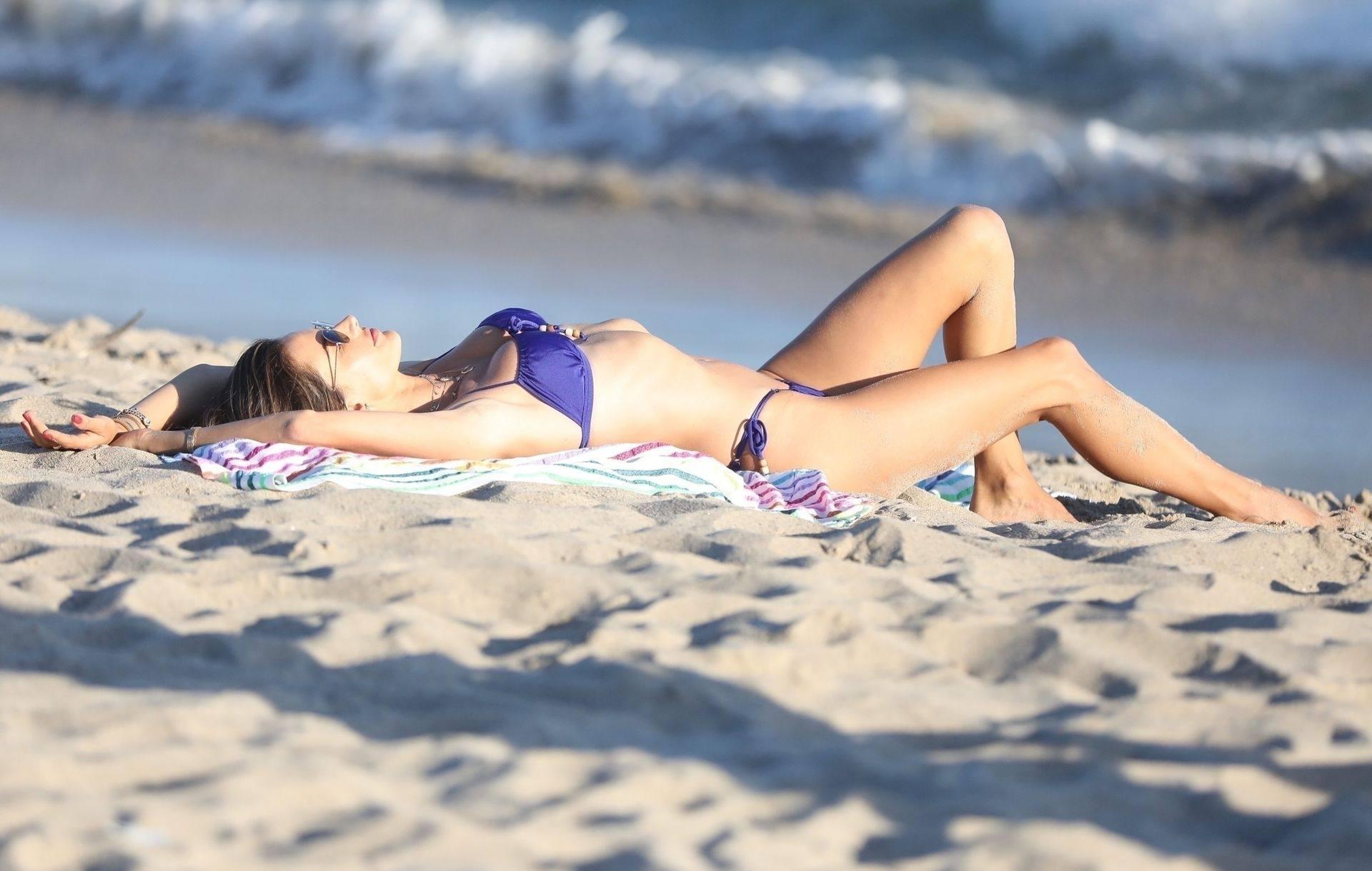 Alessandra Ambrosio Sexy Tiny Bikini