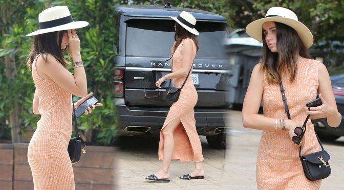 Ana de Armas – Sexy Ass in Tight Dress at Nobu in Malibu