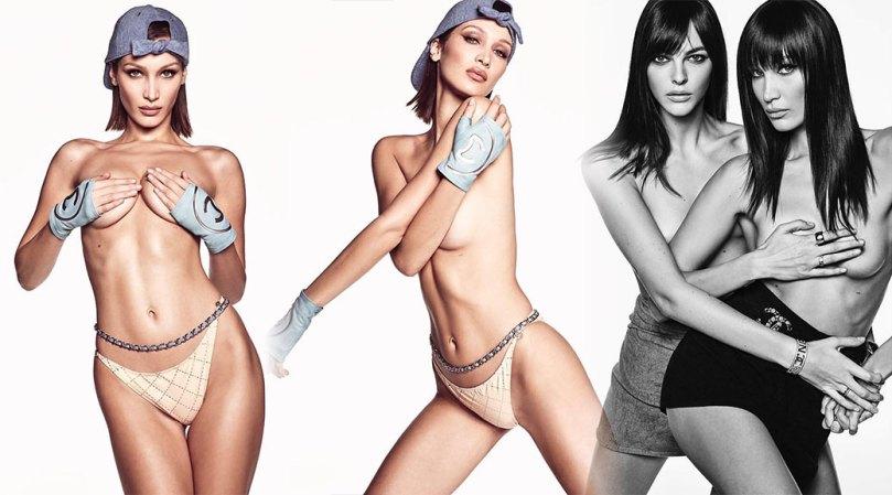 Bella Hadid Sexy Topless Photoshoot