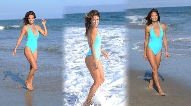 Brooke Burke – Sexy Body in Revealing Swimsuit on the Beach in Malibu