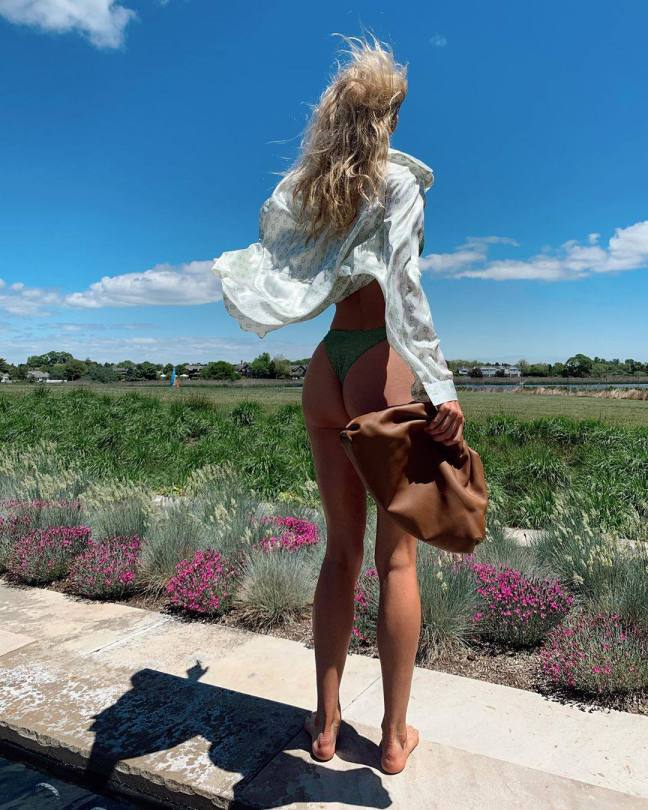 Elsa Hosk Beautiful Ass In Thong