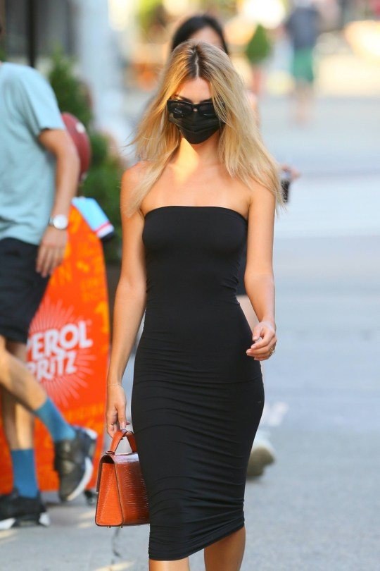 Emily Ratajowski Sexy Black Dress