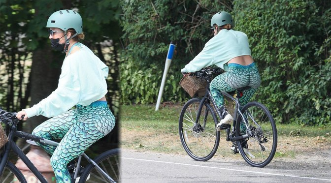 Jennifer Lopez – Sexy Big Ass on a Bike in the Hamptons