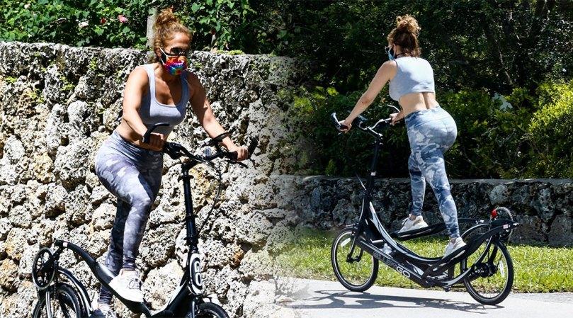 Jennifer Lopez Hot Big Ass On Bike