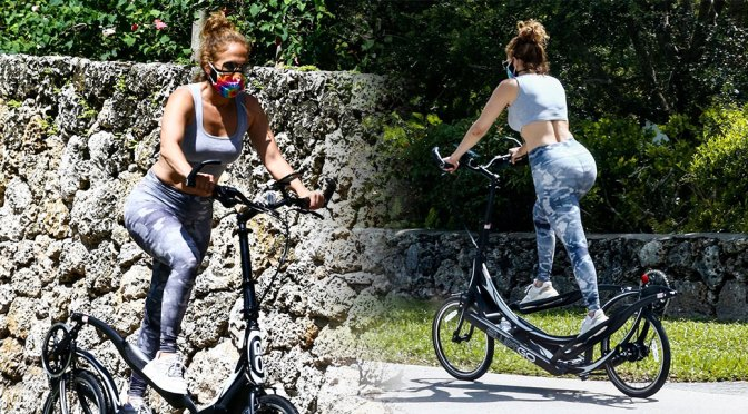 Jennifer Lopez – Sexy Big Ass on a BIke in Coral Gables