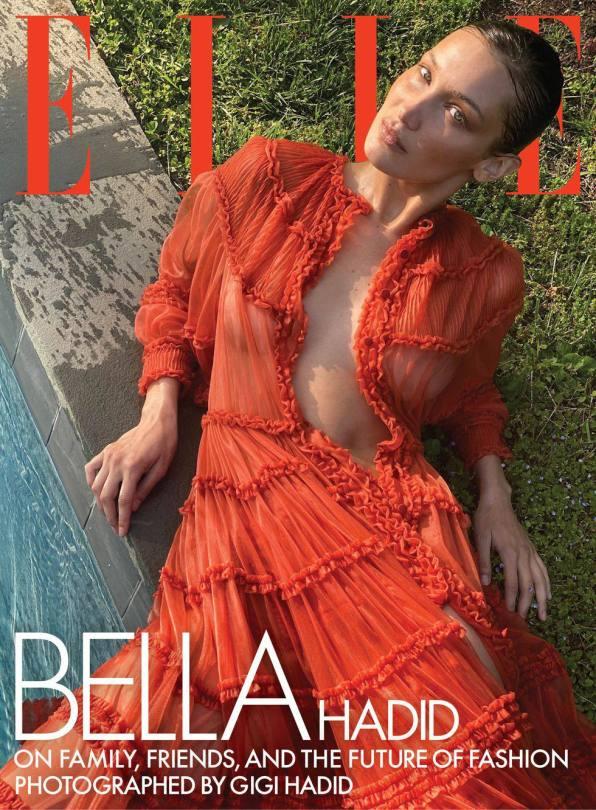 Bella Hadid Braless For Elle