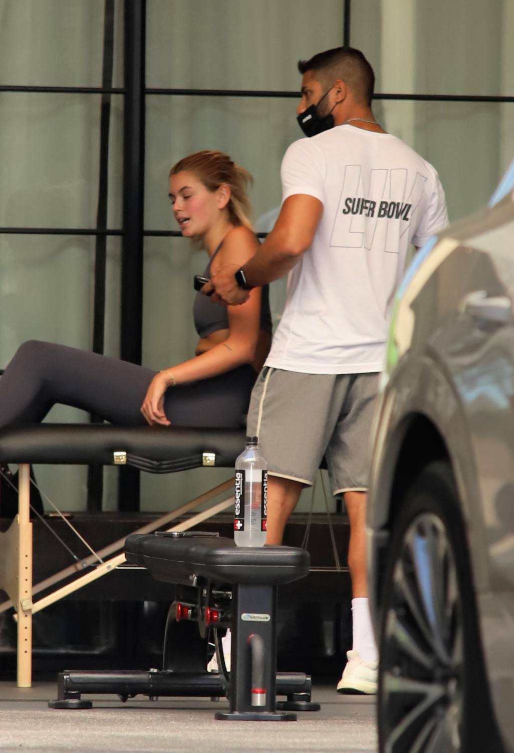 Cara And Kaia Sexy In Gym