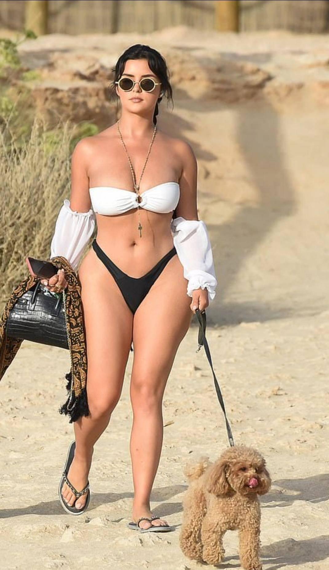 Demi Rose Mawby In Thong Bikini