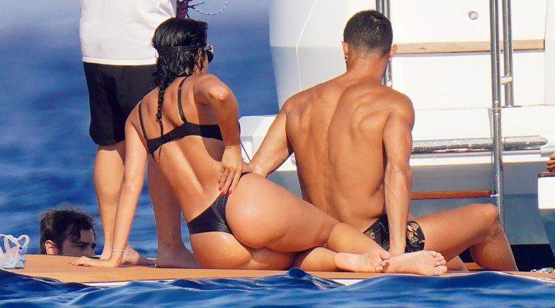 Georgina Rodriguez Perfect Ass In Thong Bikini