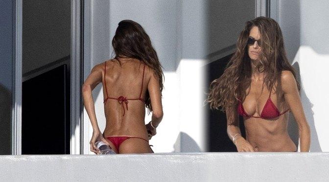 Izabel Goulart Tiny Thong Bikini