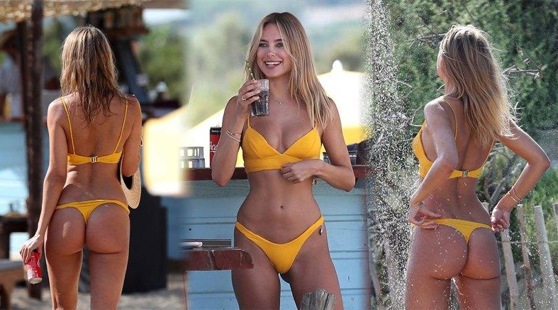 Kimberley Garner Fantastic Ass In Tiny Thong Bikini
