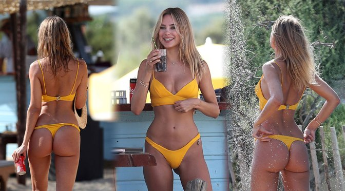 Kimberley Garner Fantastic Ass In Tiny Thong Bikini