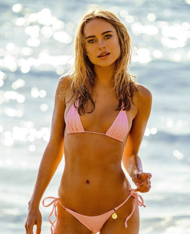 Kimberley Garner Hot In Pink Bikini