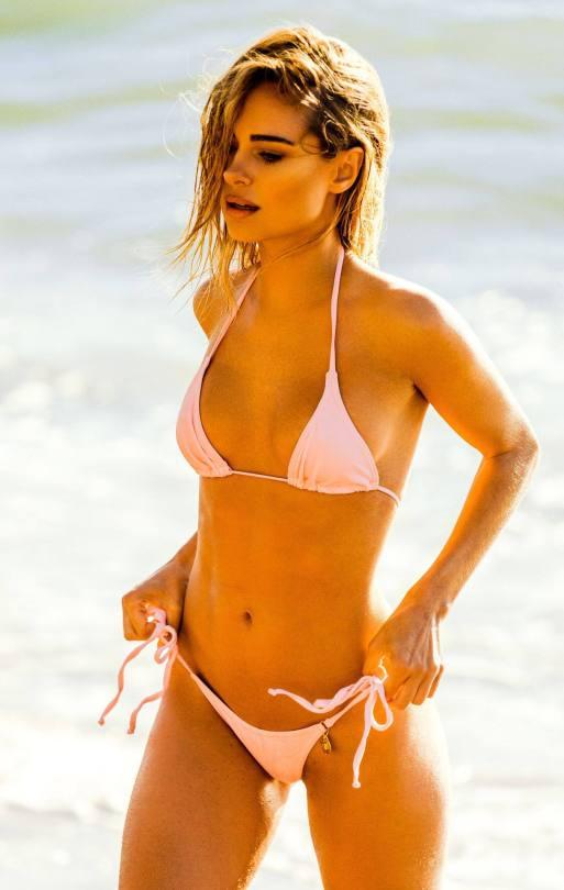 Kimberley Garner Hot In Pink Bikini