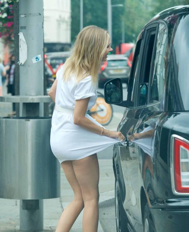 Kimberley Garner Panties Upskirt