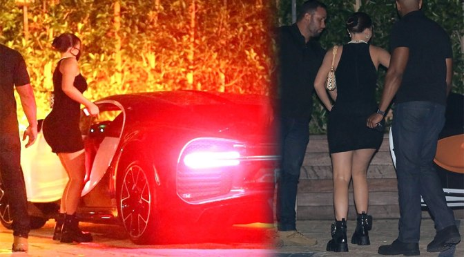 Kylie Jenner – Sexy Ass in a Tiny Black Dress at SoHo house in Malibu