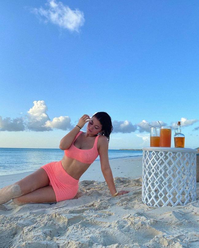 Kylie Jenner Sexy On A Beach