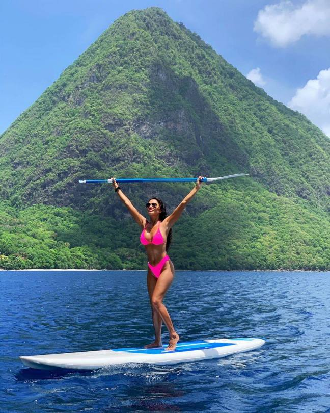 Nicole Scherzinger Sexy Pink Bikini