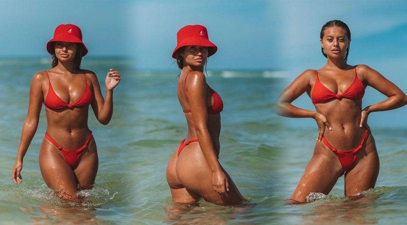 Sofia Jamora Beautiful In Thong Bikini