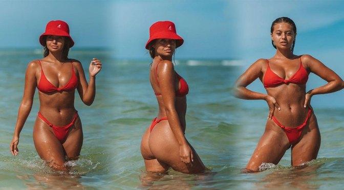 Sofia Jamora – Beautiful Body in Thong BIkini in Sexy Instagram Pics