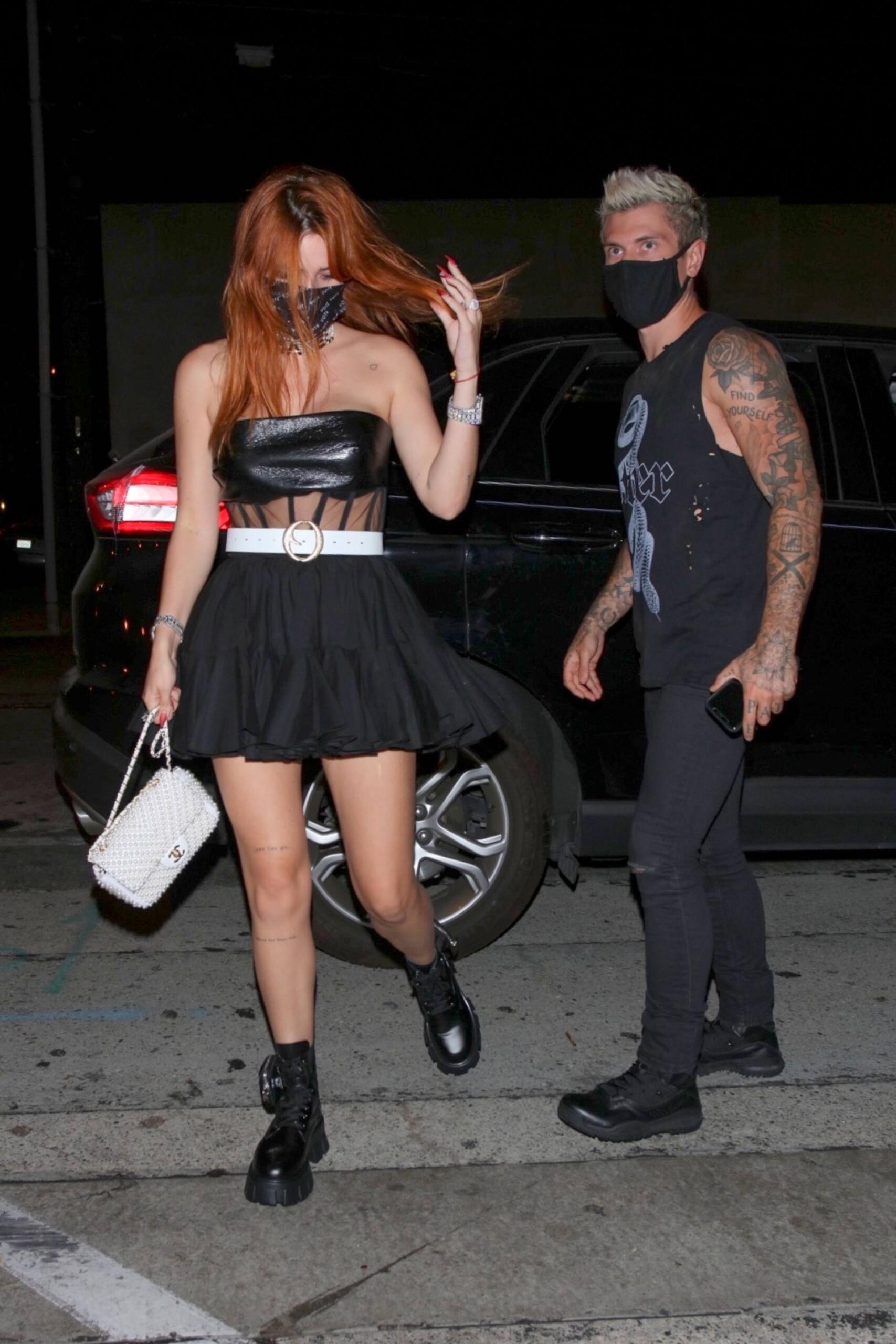 Bella Thorne Sexy In Mini Skirt