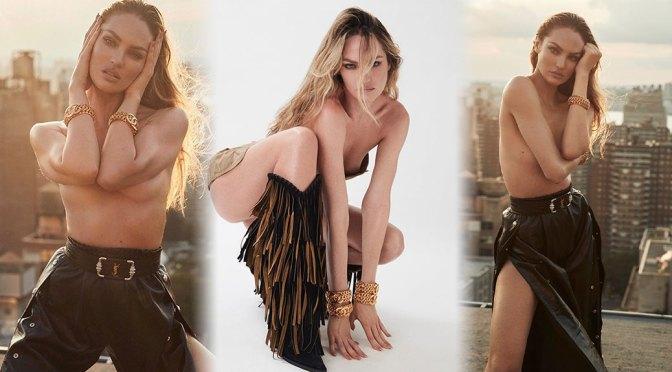 Candice Swanepoel – Beautiful Braless Photoshoot for Harper's Bazaar Spain Magazine (October 2020)