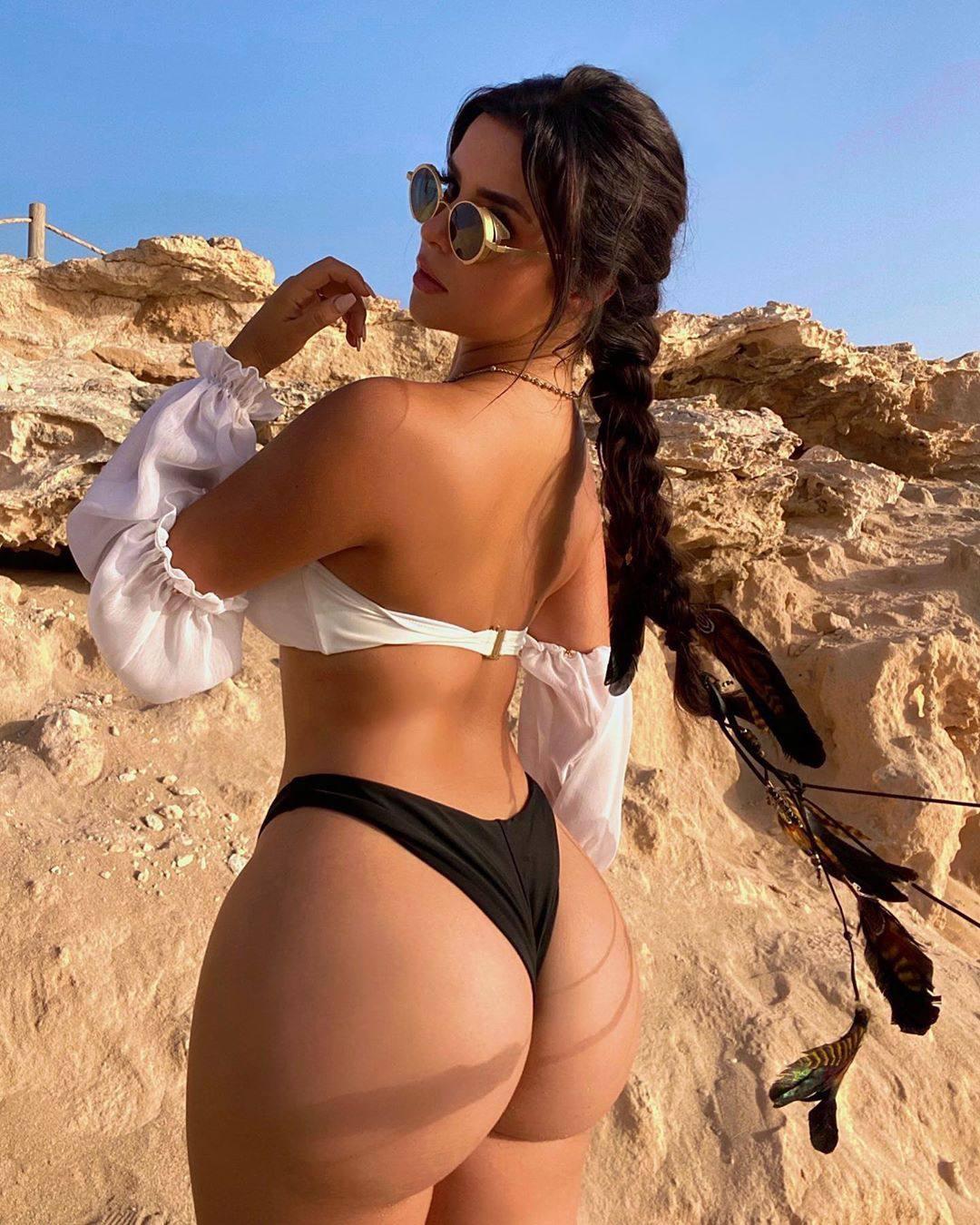 Demi Rose Mawby Tiny Thong Bikini